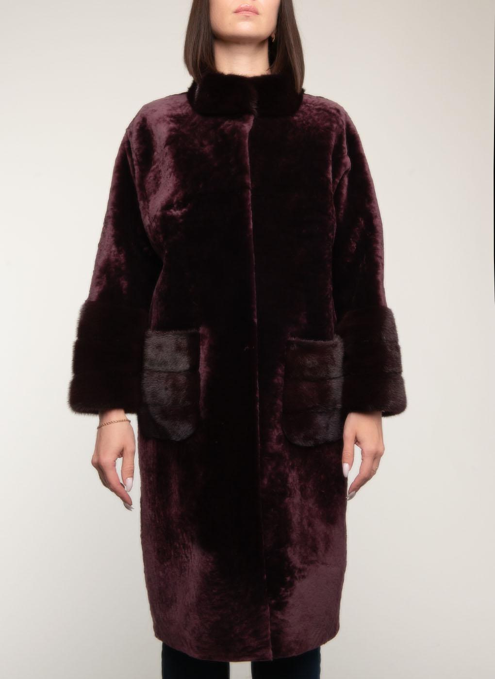 Пальто кокон из овчины 04, Aliance fur фото