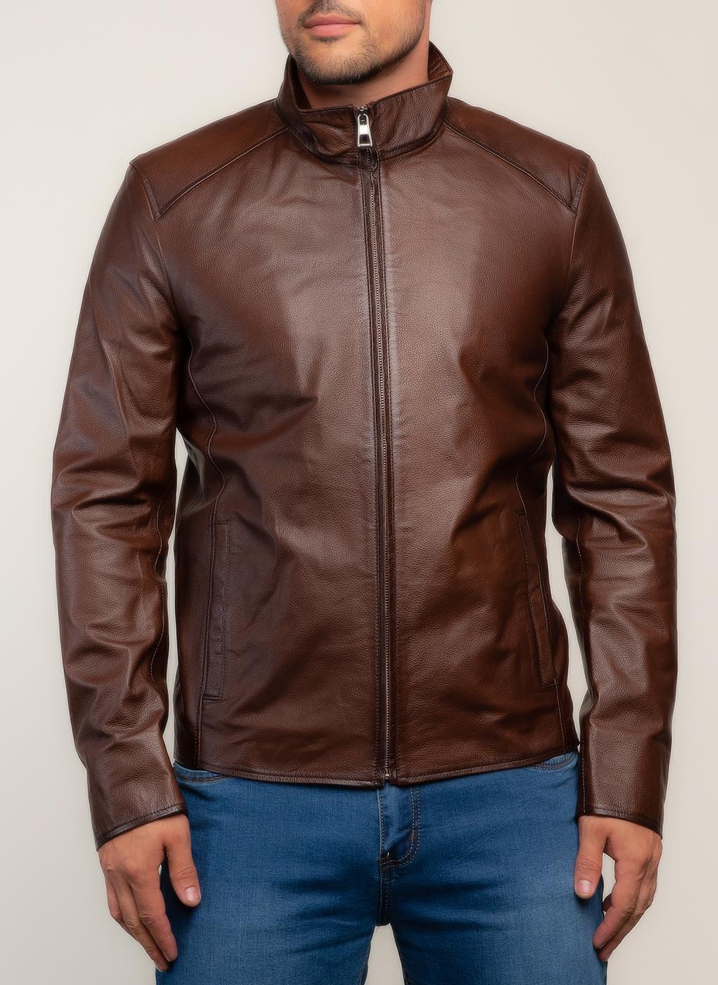 Кожаная куртка мужская 26, КАЛЯЕВ фото