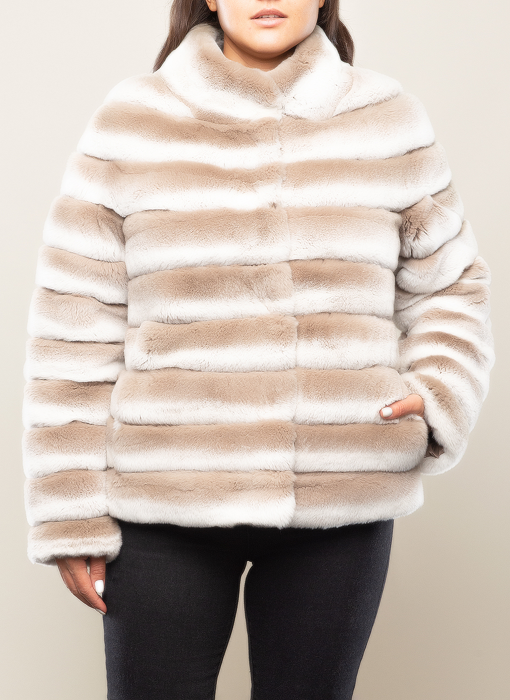 Куртка из кролика рекс Джульетта 1 04 двусторонняя, Scandza фото