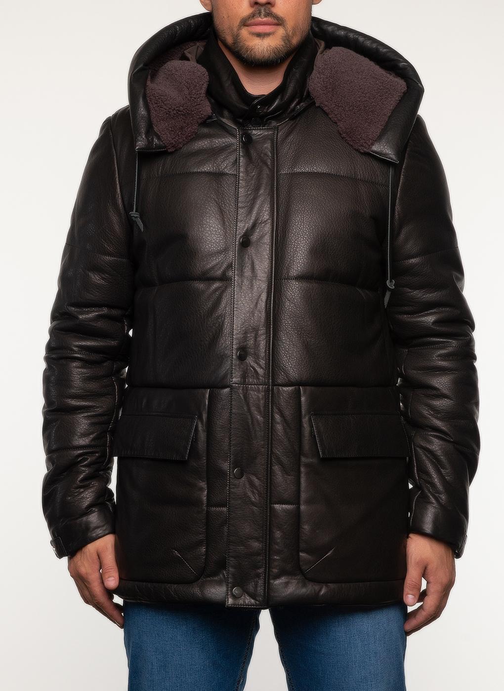 Кожаная куртка мужская утепленная 18, Perre фото