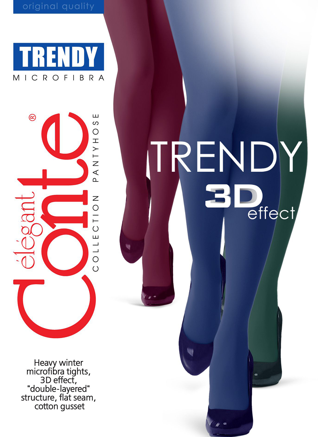Колготки женские Trendy 150 Den 10, Conte elegant фото