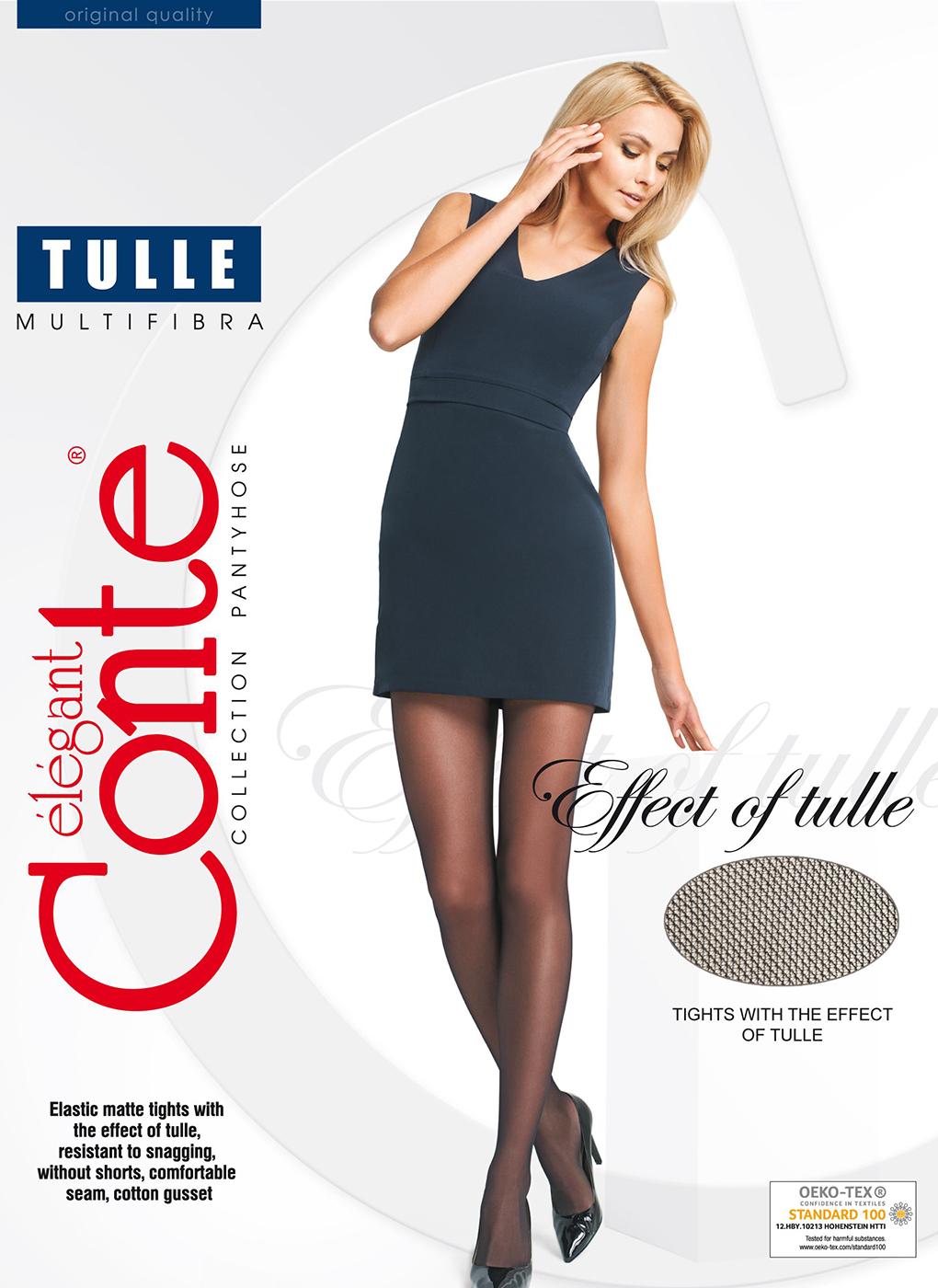 Колготки женские Tulle 30 Den 08, Conte elegant фото